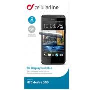 Folie Protectie CellularLine Clear Glass SPDESIRE300 pentru HTC Desire 300 (Transparent)
