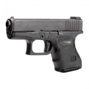 Hogue Wrapter Rubber Adhesive Grips - Wrapter Rubber Grip Glock 26 Gen 3, Black