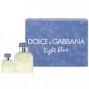 Dolce & Gabbana Light Blue Pour Homme 125 ml EDT + 40 ml EDT Pánská dárková sada