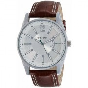 Titan Octane Analog Silver Dial Men's Watch - NK9322SL03