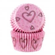 Cacas Form 5 cm hjärta rosa 50-pack