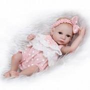Funny House Full Body Silicone Vinyl Realistic Looking Reborn Baby Dolls Lifelike Baby Girl Doll Cute 10''26cm Xmas Gift Birthday Present