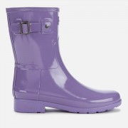 Hunter Women's Original Refined Short Gloss Wellies - Parma Violet - UK 4 - Purple