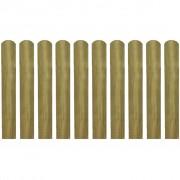 vidaXL Scândură de gard din lemn tratat 60 cm, 10 buc.