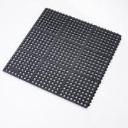 Černá protiúnavová průmyslová rohož - délka 91 cm, šířka 91 cm a výška 1,9 cm