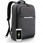KUPRINE Lightweight Business Laptop Backpack for Men with USB Charging Port, College Computer Backpacks fits Under 17 Inch Laptops