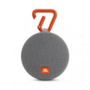 Тонколона JBL Clip 2, 1.0, 3W RMS, 3.5mm jack/Bluetooth, сива, микрофон, IPX7, до 8 часа работа