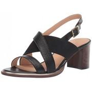 Clarks Women's Ellis Tilda Heeled Sandal, Black Leather, 10 M US