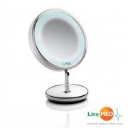 Oglinda cosmetica cu picior si iluminare LED Laica PC5004, factor de marire 5x