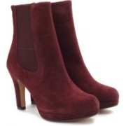Clarks Kendra August Women Boots For Women(Maroon)