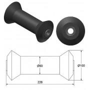 Rolka gumowa kilowa czarna RG-28, 226x100mm