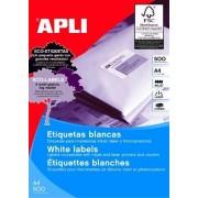 Apli 01782 étiquettes multius. blanc 70x35 mm coins vifs - Bte 500 planches A4