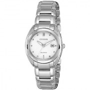 Citizen Analog White Dial Womens Watch - EM0310-61B