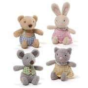 Enesco Gund Kids Baby Plush Mini Meadow Rattle Set of 4 Kids Toy