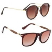 SRPM Cat-eye, Wayfarer Sunglasses(Brown)