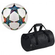 Combo of Multistar UEFA Champions League Football (Size-5)with Kit Bag