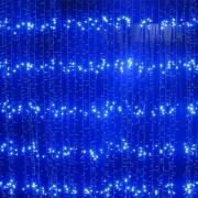 Perdea Luminoasa Ploaie Craciun 560LED Albastre 4x2.5m Fir Incolor VR