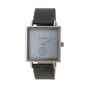 Simplify The 5000 Leather-Band Watch - Silver/Grey/Charcoal SIM5006