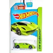 Hot Wheels, 2015 Hw Workshop, Lamborghini Sesto Elemento [Lime Green] Die Cast Vehicle #198/250