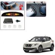 Auto Addict Car White Reverse Parking Sensor With LED Display For Nissan Kicks