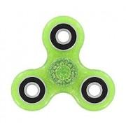 Fidget Spinner cu sclipici, verde