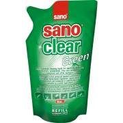 Rezerva detergent pentru geamuri, 750 ml, SANO Clear Green