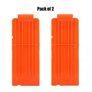 Dart Magazines,12-Darts Quick Reload Clips Magazine Clips for Nerf N Strike Elite Blasters,Pack of 2 (Orange)