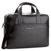 Laptoptáska TOMMY HILFIGER - Smooth Leather Computer Bag AM0AM02635 002