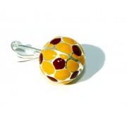 Argento 925 : Ciondolo uomo donna palla pallone da calcio giallorosso ROMA Made in Italy