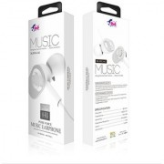 Bell Metal Universal Earphone Super Bass In-line Remote Control Wired Headset 3.5mm (White - 642)