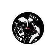 Relógio de Parede Decorativo, Modelo Jesus Cristo Me Criative RPD Preto Pacote de 1