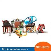 Generic 10527 618pcs Ninja The Green NRG Dragon Bela Building Block Compatible 70590 Brick Toys for Children
