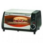 Тостер за сандвичи - фурна SAPIR SP 1441 NSB, 10 литра, таймер, 800W, черна/сребриста