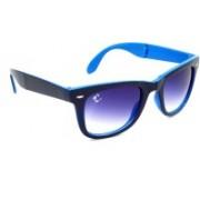 Clark N' Palmer Wayfarer Sunglasses(Blue, Clear)