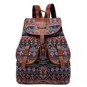 Leadmall Bag Mochila bohemia para mujer, diseño de rayas, Bolso bandolera transparente, E, M
