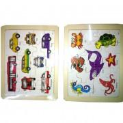 Fa puzzle, autós vagy állatos (1db)