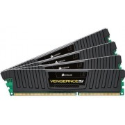 Corsair CML32GX3M4A1600C10 Mémoire RAM Low Profile DDR3 1600 32Go CL10 Vengeance Kit4 Black