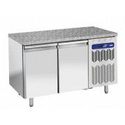 Diamond Comptoir Réfrigéré Ventilée 2 Portes EN 600x400 Top en Granit 1514x800x(h)900mm