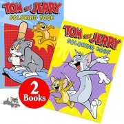 Tom and Jerry Coloring and Activity Book Set (2 Books ~ 96 Pages)