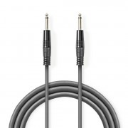 NEDIS Kabel voor Monoluidspreker 6,35 mm male - 6,35 mm male 10 m Grijs