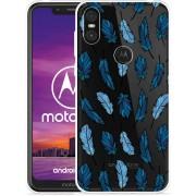Motorola One Hoesje Feathers