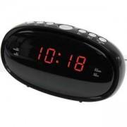 Радио с часовник с двойна функция за аларма с 10 предварително зададени станции DENVER CR-420, Черен