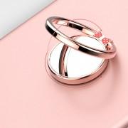 Držiak mobilného telefónu v tvare prsteňa zrkadielko