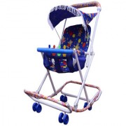 ABASR BABY KIDS MULTICOLOUR 3 IN 1 RASSI WALKER BLUE