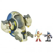 Playskool Heroes Star Wars Jedi Force Jango Fett's Slave I Vehicle with Obi-Wan Kenobi Figure