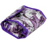 "Kuber Industries ""ROLL N' GO"" Cosmetic/Toiletry/Jewelery Bag Cosmetic Bag Roll up Makeup Toiletry Bags Organizer with 3 Compartments (Purple) Qty.(1Pck) size:10""x 4.5""x 5.5"" Travel Toiletry Kit(Purple)"