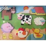 Baby Mix Puzzle din lemn 10m+ Ferma