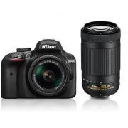 Nikon D3400 DSLR Camera with AF-P 18-55mm AF-P 70-300mm ASP VR II Lens