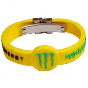 Men Style New Dsesign Black Yellow Rubber Round Bracelet For Men And Boy