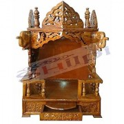 Shilpi Wooden Hand Carved Classic Sheesham Wood Temple / Mandir / Wooden Puja Temple